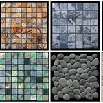 A collection of the available tiles from Island Stone